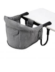 Siège de table en lin gris