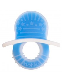 Anneau de dentition en silicone bleu