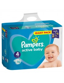 PAMPERS MAXI TAILLE 4 76PCES